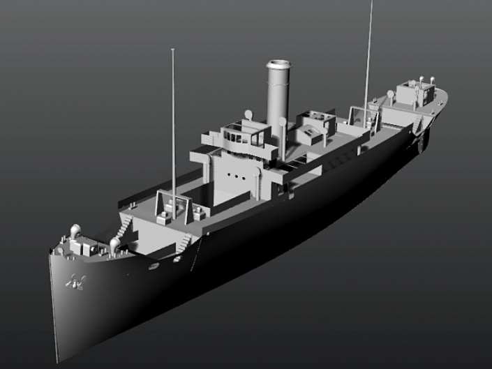 3D modeliranje Olupine broda VIS
